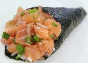 como fazer Temaki de salmão
